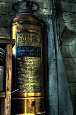 Shoe Repair Photograph - Cobblers Fire Extinguisher by David Morefield