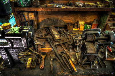 Shoe Repair Photograph - Cobblers Workbench by David Morefield