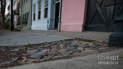 Photograph - Cobblestone Rainbow Row by Dale Powell