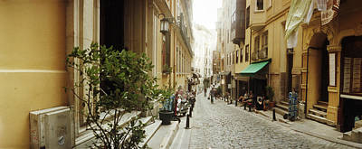 Cobblestone Street In Istanbul, Turkey Art Print by Panoramic Images