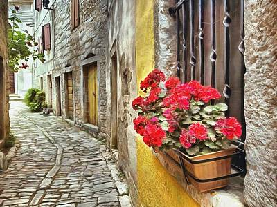 Cobblestone Streets Of Bale Art Print by Maciek Froncisz