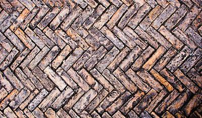 Cobblestones In Sarlat France No2 Art Print