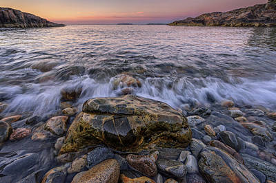 Maine Beach Photograph - Cobblestones by Rick Berk