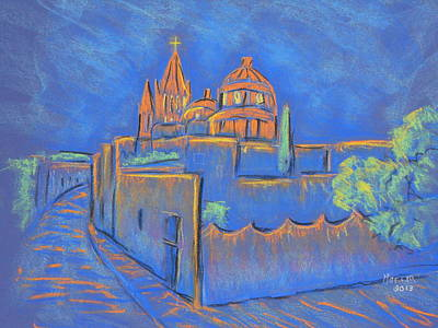 Cobblestones To The Basilica Art Print by Marcia Meade