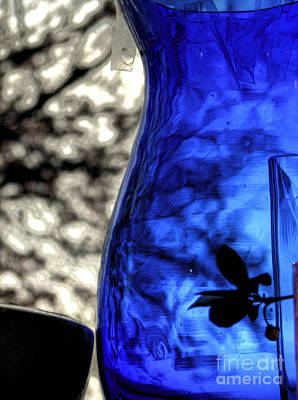Photograph - Coblat Blue Vase by Chris Anderson