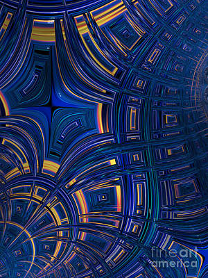 Blue Abstract Digital Art - Cobolt Plates by John Edwards