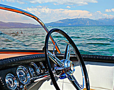 Wooden Boat Photograph - Cobra Cockpit by Steve Natale