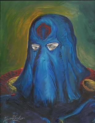 Painting - Cobra Commander by Simon Drohen