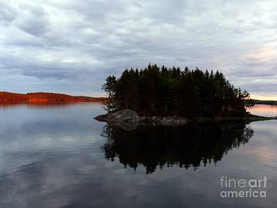 Photograph - Cobscook Bay Sunset Reflection by Christine Stack