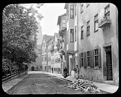 Coburg Germany Street Scene 1903 Art Print
