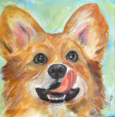 Painting - Coby The Corgi by Maureen Pisano