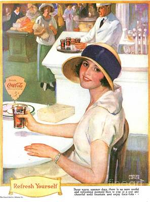 Nineteen Twenties Drawing - Coca-cola 1920s Usa by The Advertising Archives