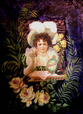 Painting - Coca Cola Advertisement 1900's by Patricia Rachidi