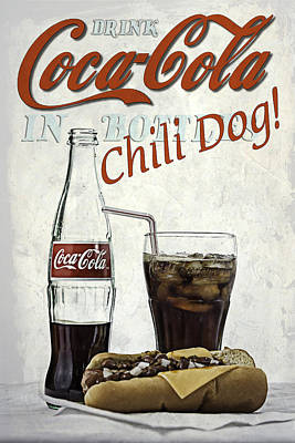 Art Print featuring the photograph Coca-cola And Chili Dog by James Sage
