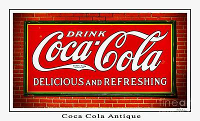 Coca Cola Antique Art Print by Barbara Chichester