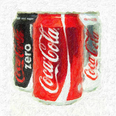 Coca Cola Art Impasto Art Print
