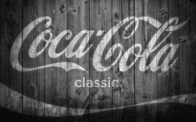 Coca Cola Black And White Art Print by Dan Sproul