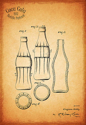 Beer Photograph - Coca Cola Bottle 1937 by Mark Rogan