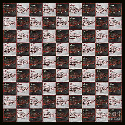 Coca-cola Sign Photograph - Coca Cola Checkerboard by John Stephens