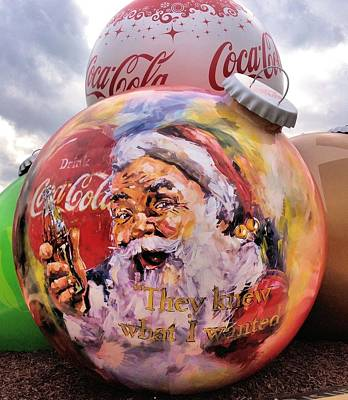 Photograph - Coca Cola Christmas Bulbs by Dan Sproul