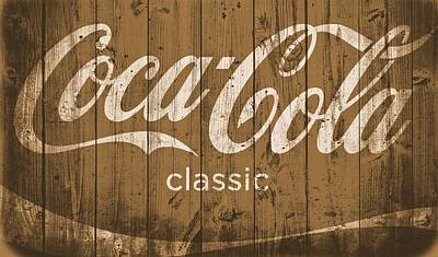 Coca Cola Classic Barn Art Print by Dan Sproul