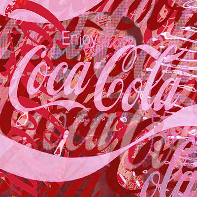 Painting - Coca-cola Collage by Tony Rubino