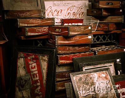 Squint Photograph - Coca Cola Crates by Sonja Quintero