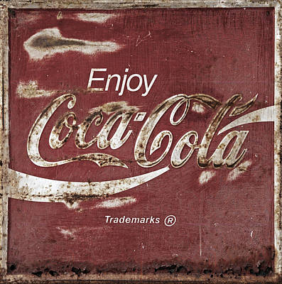 Old Coke Sign Wall Art - Photograph - Coca Cola Faded Sign by John Stephens