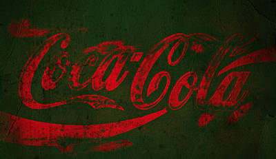 Coca-cola Sign Photograph - Coca Cola Grunge Red Green by John Stephens