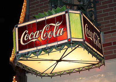 Photograph - Coca Cola Lighting by David Nicholls
