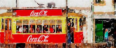Coca-cola Signs Digital Art - Coca Cola On Wheels by Mary Machare