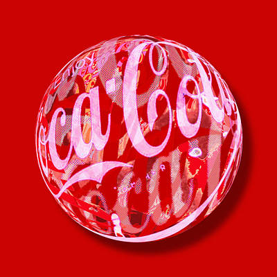Painting - Coca-cola Orb by Tony Rubino