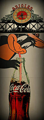 Oriole Photograph - Coca Cola Orioles Sign by Stephen Stookey