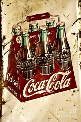 Coca Cola Rusty Old Sign Art Print
