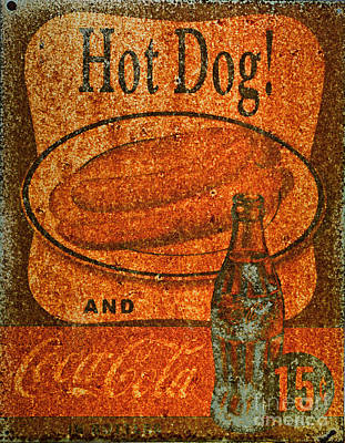 Hot Dogs Photograph - Coca Cola Rusty Sign by Paul Ward