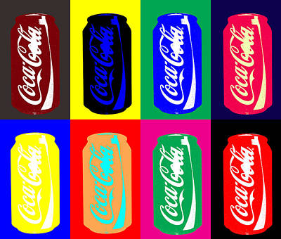 Digital Art - Empty Coke Cans by Saad Hasnain