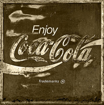 Old Coke Sign Wall Art - Photograph - Coca Cola Sign by John Stephens
