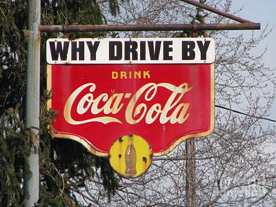 Coca-cola Sign Art Print by Michael Krek