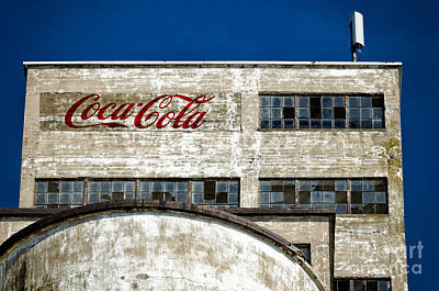 Photograph - Coca Cola Sign On Old Factory by Les Palenik