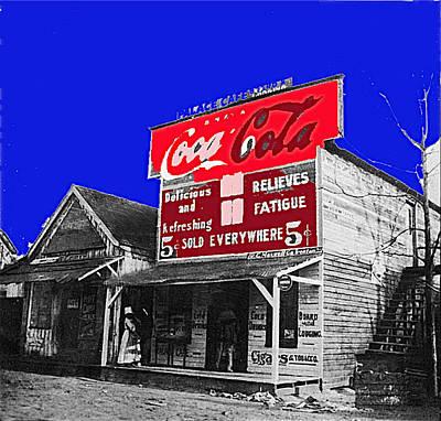 Shootist Photograph - Coca Cola Sign Palace Cafe Sumter Sc by David Lee Guss