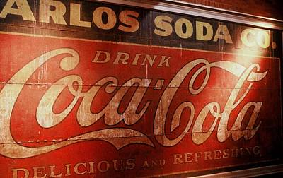 Art Print featuring the photograph Coca Cola Sign by Rodney Lee Williams