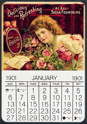Photograph - Coca - Cola Vintage Calendar by Gianfranco Weiss