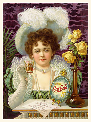 Photograph - Coca-cola Vintage Retro Poster by John Stephens