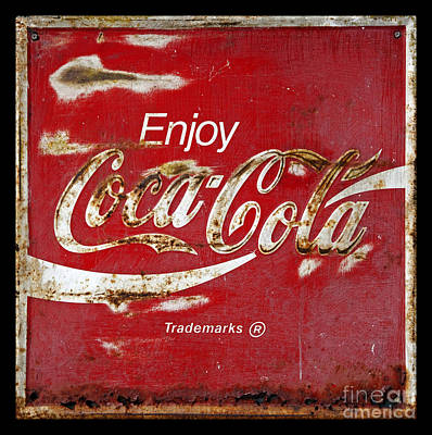 Photograph - Coca Cola Vintage Rusty Sign by John Stephens