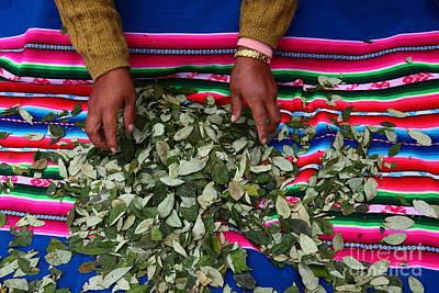 Hand-weaving Photograph - Coca Market by James Brunker