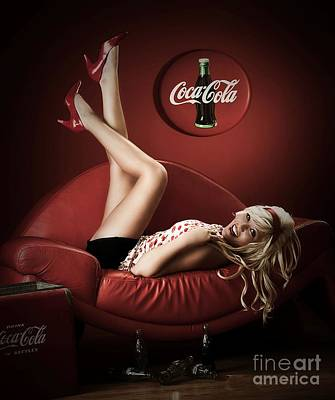 Painting - Cocacola 2 by Thomas Oliver