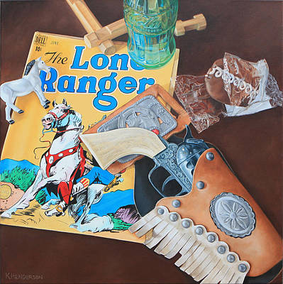Lone Ranger Painting - Cocacola Cowboy By K Henderson by K Henderson
