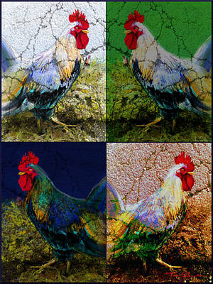 Quadro Painting - Cock 2 by Theo Danella