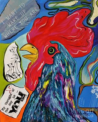 Cock-a-doodle-do Art Print by Janice Rae Pariza