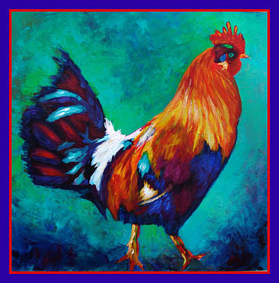 Big Rooster Painting - Cock Of The Walk  Sold by MarvL Roussan